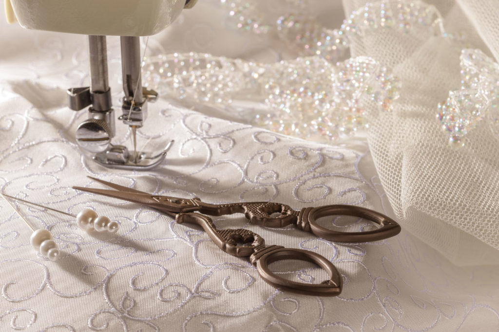 Bespoke wedding dress tailoring
