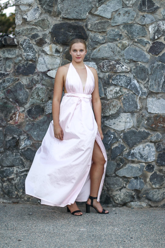 Backless Pink Formal Dress 2