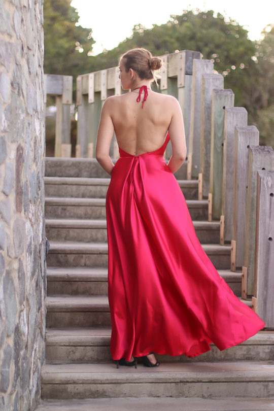 Backless Red Formal