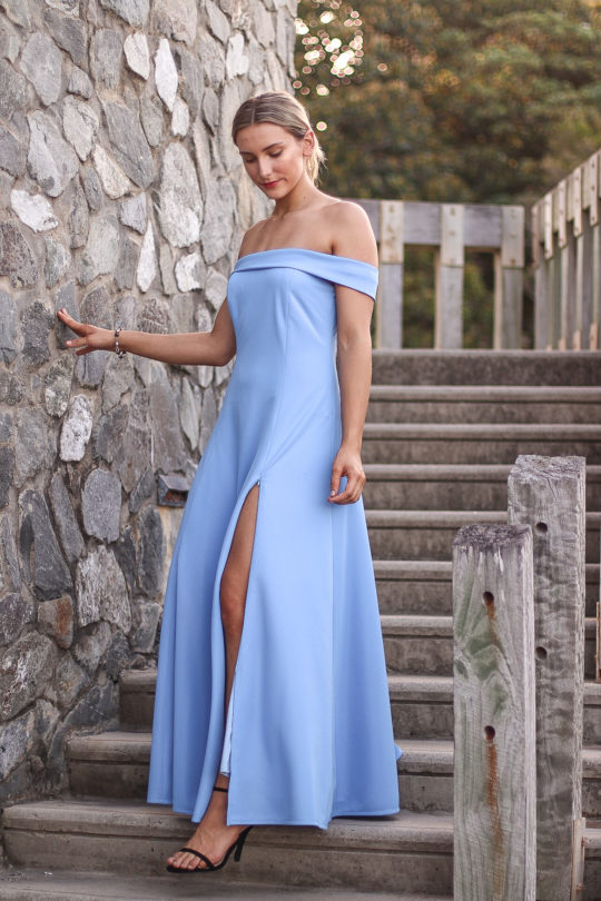 Blue Dress Formal 2