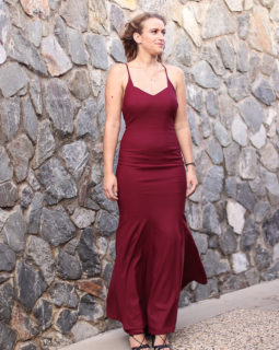 Darkred Formal Dress 3