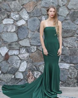 Long Darkgreen Dress