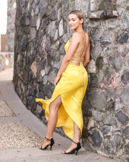 Yellow Formal Dress 2